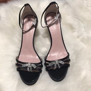 Kate Spade Black Bling Bow Heels Size 11
